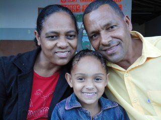Mariane samen met haar ouders