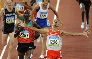 Winnende atleet