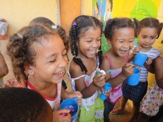 Kinderen uit het kindercentrum