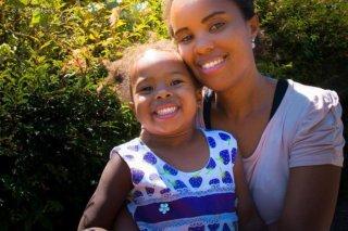 Iris en haar dochter
